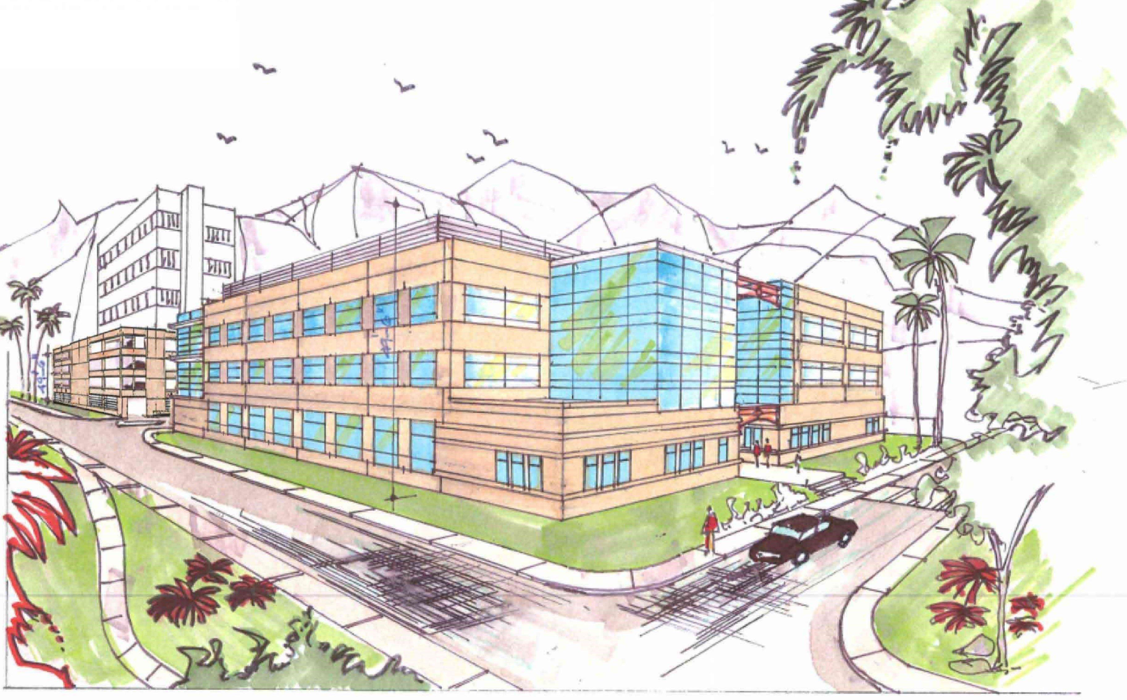 Tarzana Medical Atrium Parking Structure