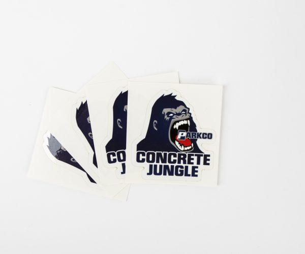 2.5in. X 2.75in. Concrete Jungle Sticker 1