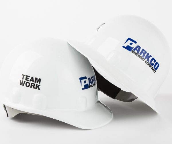 White Hard Hats Full & Front Brim 1